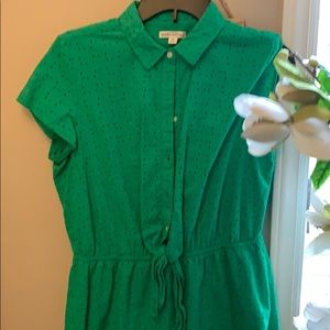 J crew trendy bright green dress